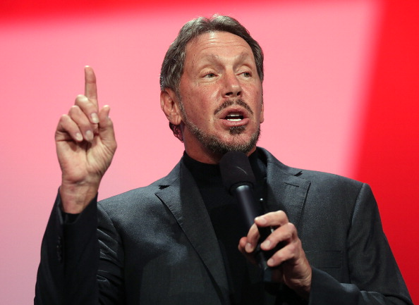 SAN FRANCISCO, CA - SEPTEMBER 30:  Oracle CEO Larry Ellison delivers a keynote address during the 2012 Oracle Open World conference on September 30, 2012 in San Francisco, California. Ellison kicked off the week-long Oracle Open World conference that runs through October 4.  (Photo by Justin Sullivan/Getty Images)