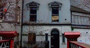 George Boole's former home in Grenville place, Cork. The council is planning to restore the now derelict building.