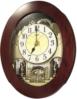 Rhythm Grand Nostalgia Entertainer Musical Motion Wall Clock 4MH838WD06