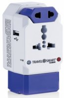 TravelSmart All-in-One Adaptor w/USB Port and Surge Protection