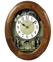 Rhythm Joyful Nostalgia Oak Wall Clock 4MH852WD06