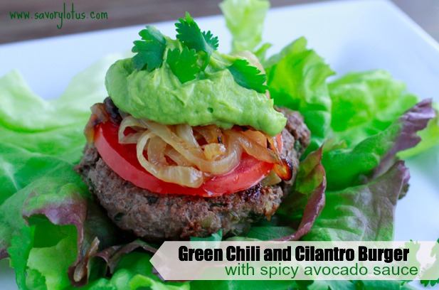 green chili burger thesproutingseed.com