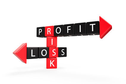 financial ratio with profit risk and loss