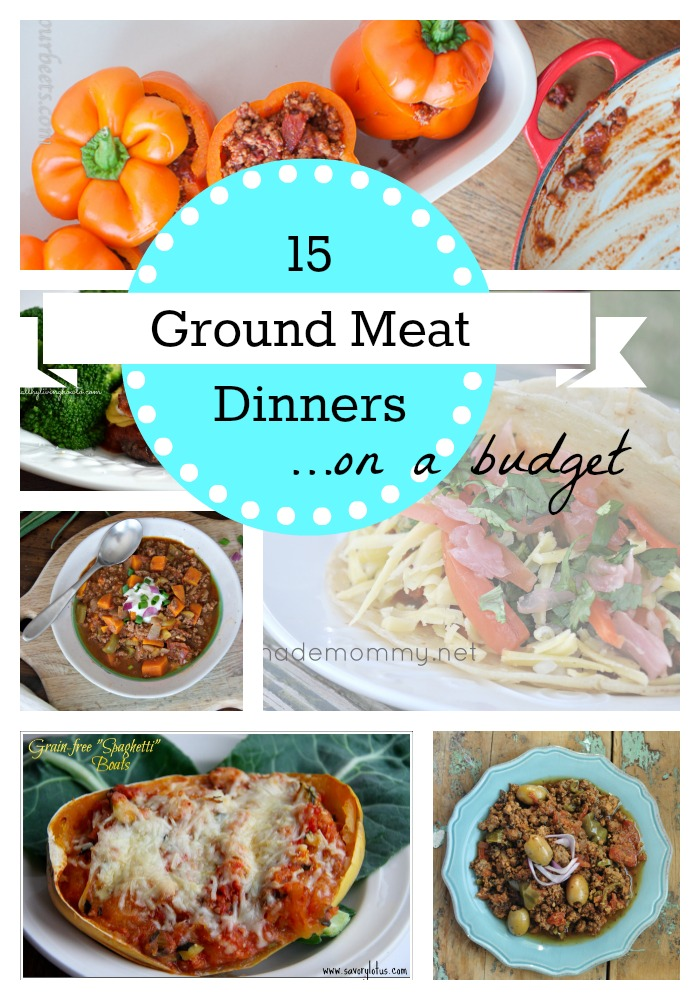 15 ground meat dinners on a budget
