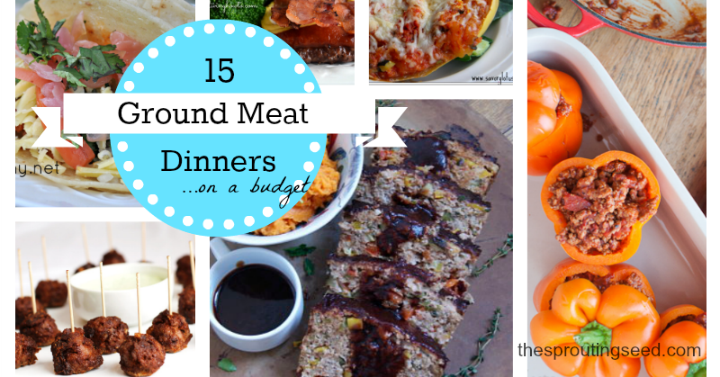 15 ground meat dinners on a budget thesproutingseed.com