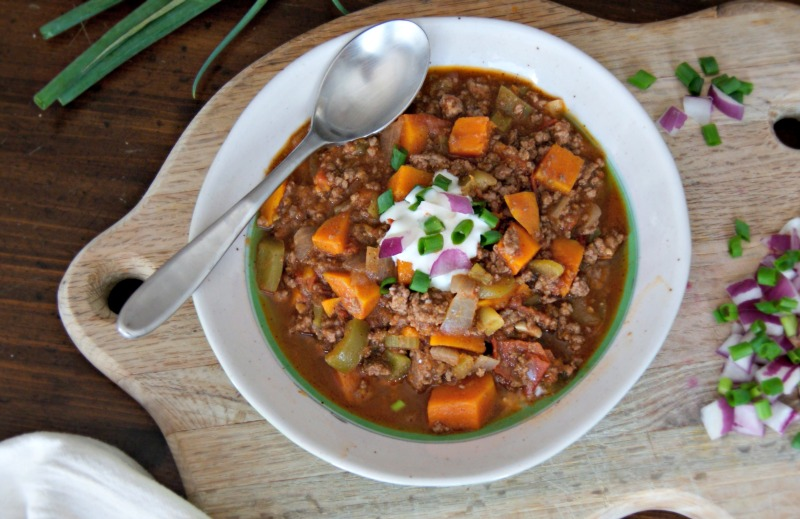 butternut squash and beef chili thesproutingseed.com