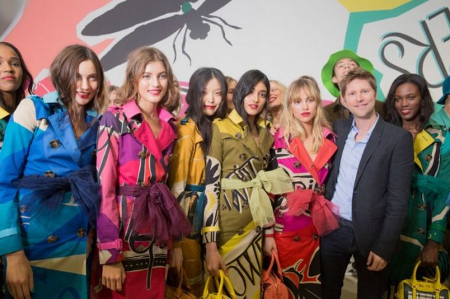 Christpher Bailey and Burberry women's collection for SS2015