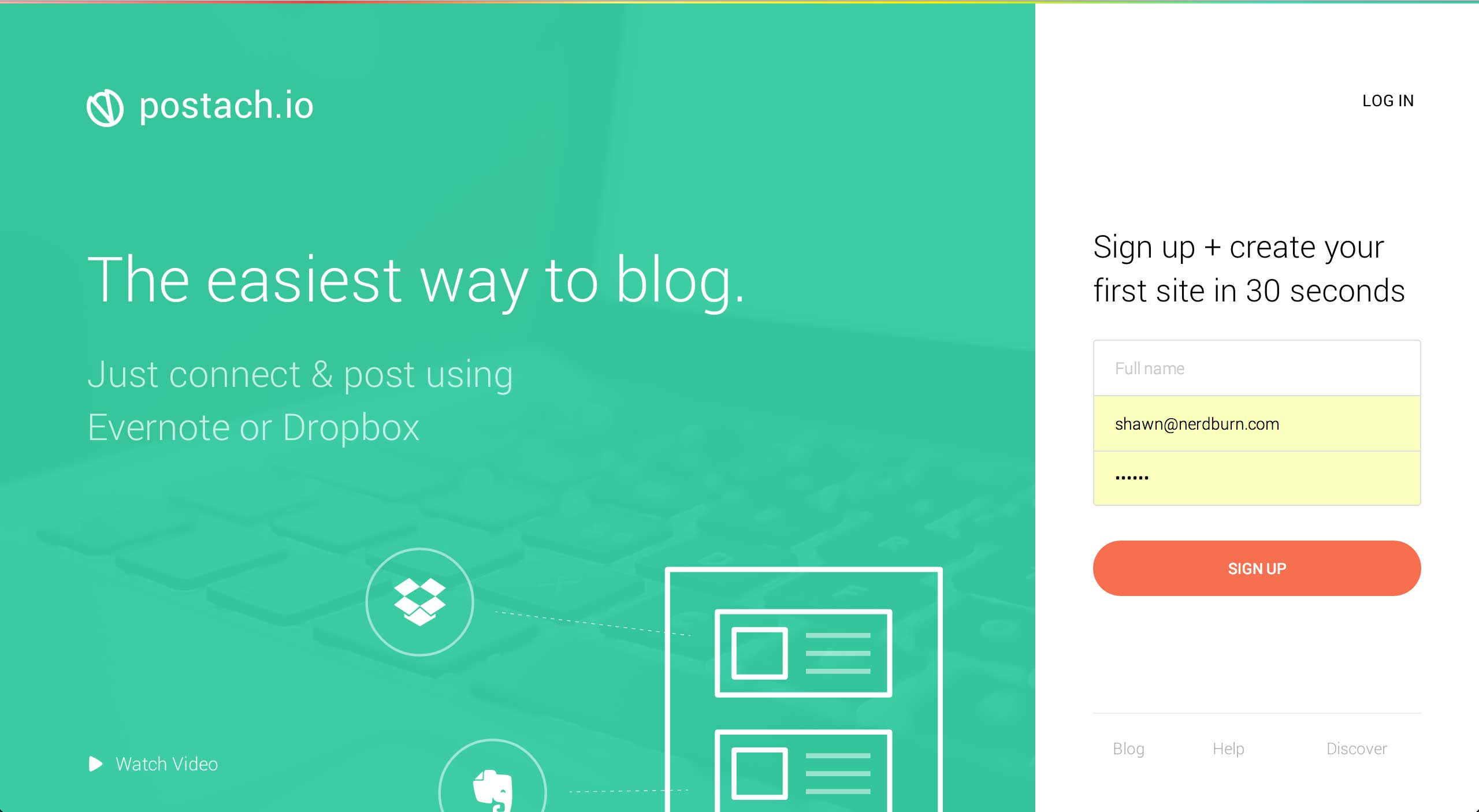 postasio1 Mashup your Evernote & Dropbox content with Postach.io