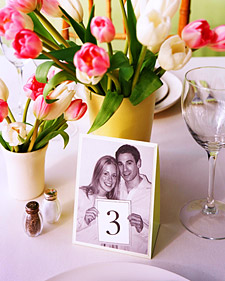 DIY Photo Table Numbers from Martha