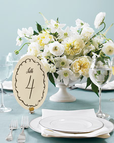 DIY Table Number Templates from Martha Stewart