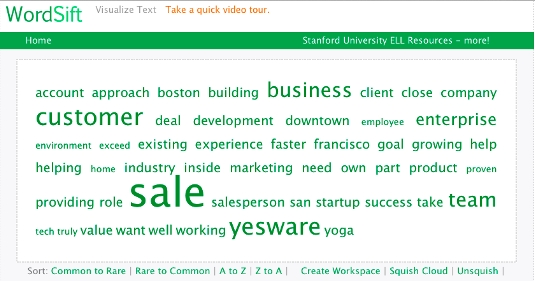 Wordsift-screenshot-how-to-get-a-sales-job