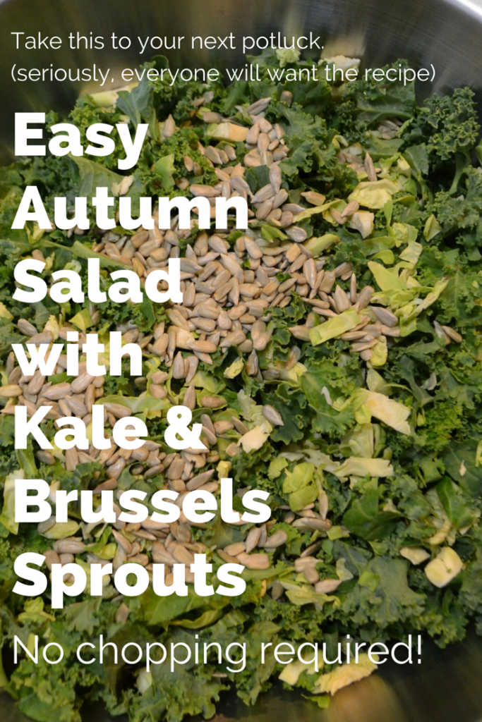 Take this easy autumn salad recipe to your next potluck -- seriously, everyone will be asking you for the recipe. And, if you're near a Trader Joe's make this recipe even easier by buying all of your ingredients there -- no chopping required! Super healthy salad and tastes amazing. A family favorite!