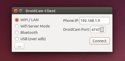 Launch DroidCam client in Ubuntu machine