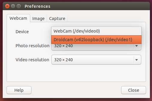 Open a webcam specific app