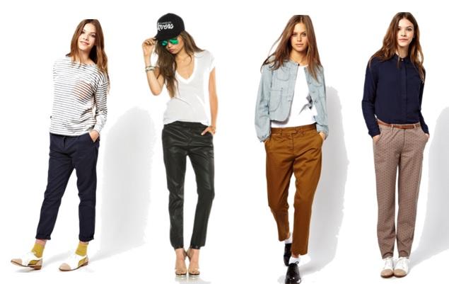 брюки чинос женские