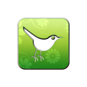 twitter logo, green. Find us on twitter @excitingnature