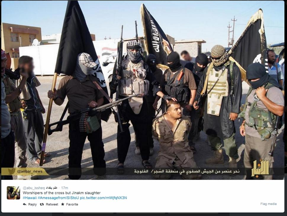 Tweets with the hashtag #amessagefromisistous show taunts from ISIS supporters to America and the West.