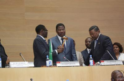 President Thomas Yayi Boni Elected as Chairperson of the African Union, 29-01-2012, Addis Ababa, Ethiopia