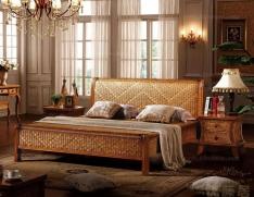 时尚藤床 藤床摆放 卧房藤床款式