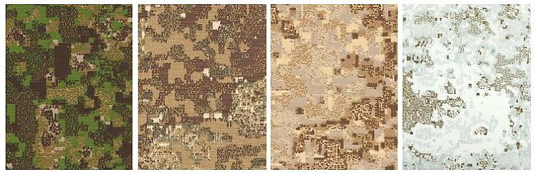 примеры расцветок камуфляжной формы