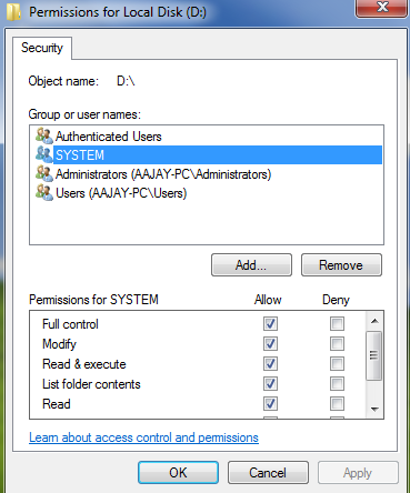 Block Access to a Folder For a Guest Account on Windows 7