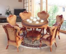 藤质餐桌椅