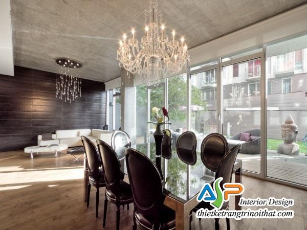 Thiết kế phòng khách kết hợp phòng ăn