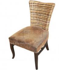 仿皮垫餐椅