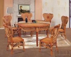 藤木餐桌椅