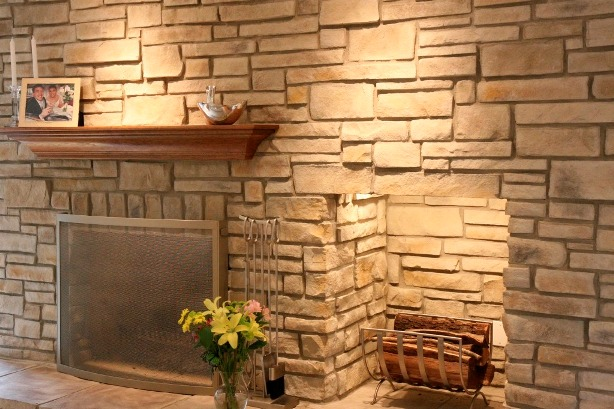 Stone Interior Wall for Rustic Home Decoration