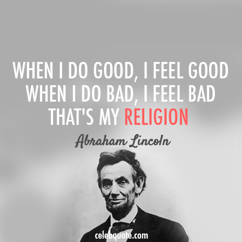Abraham Lincoln Quotes On Religion
