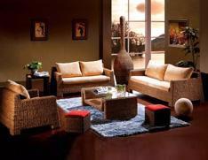 1+2+3藤质沙发