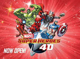 Marvel Super Heroes 4D Experience NOW OPEN!