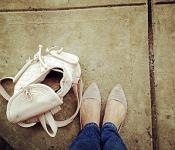Skinny jeans and flats by [ rachel ] via Flickr