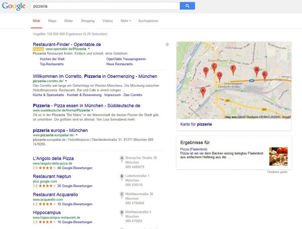 Suche nach Pizzeria am Standort München(1)