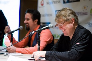 Panelists Dino Dogan and Robert Scoble share valuable information to attendees