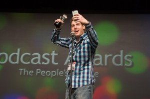 Rob Cesternino, recipient of Best Produced & Best Video Podcast at the Podcast Awards