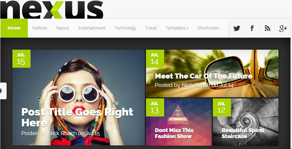 nexus wordpress themes