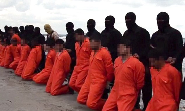 Horror: A new video has been released by ISIS allegedly showing the beheading of 21 Egyptian men