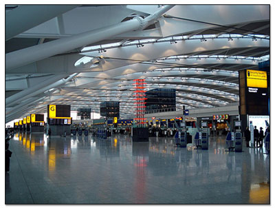 airport taxi transfers that start from the interior of airport terminal departures level