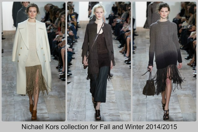 Fringed pieces in the collection by Michael Kors