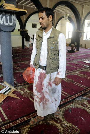 Survivors compared the explosions to an earthquake and said some people were injured by shattered glass falling from the mosque's large hanging chandeliers