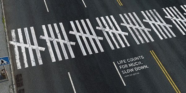 Slow Down On Road, Life Counts