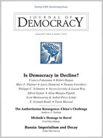 "Journal of Democracy January 2015, ""Is Democracy in Decline?"""