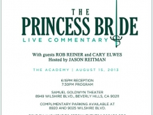 """""""The Princess Bride"""" Live Commentary Poster"""