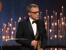 """Christoph Waltz winning Best Supporting Actor for """"Django Unchained"""""""