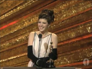 Marisa Tomei winning Best Supporting Actress