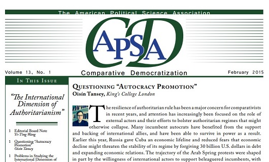 "APSA-CD Newsletter: ""The International Dimensions of Authoritarianism"""