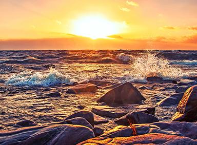 日落美景图片电脑背景