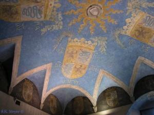 Ceiling fresco, Room with the Sforza crest, Sforza Castle, Milan (Photo: S.K. Meyer ©)